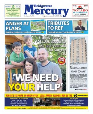 Bridgwater Mercury: WE NEED YOUR HELP: Family launch 100k appeal