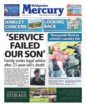 "Bridgwater Mercury: ""Service failed our son"": Family seeks legal advice after 23-year-old's death"