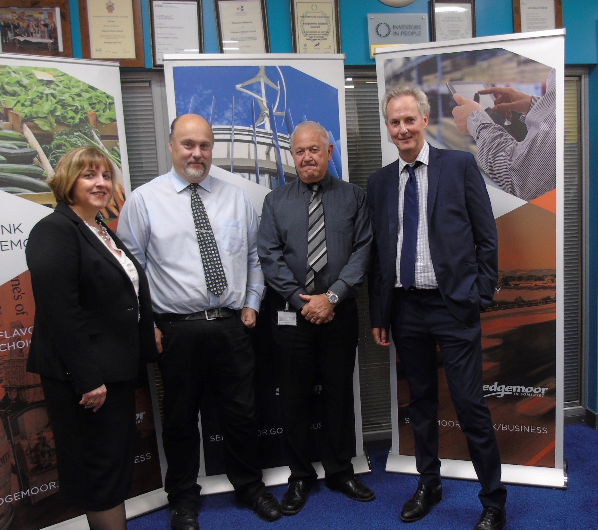 VISIT: Group Manager, Strategy and Development -Claire Pearce; Chair of Development Committee - Cllr Bob Filmer; Vice Chair Development Committee - Cllr Tony Grimes and RTPI President Stephen Wilkinson