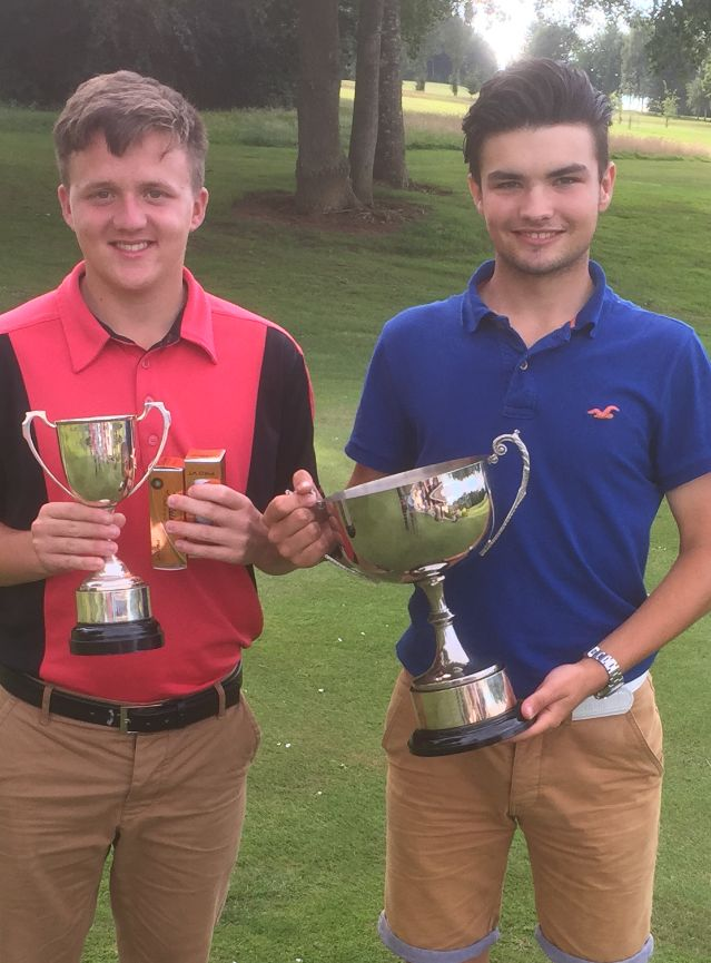 JAKE Bovington (left) and Taylor Stote, who finished second and first respectively in the Enmore Park Junior Championship.