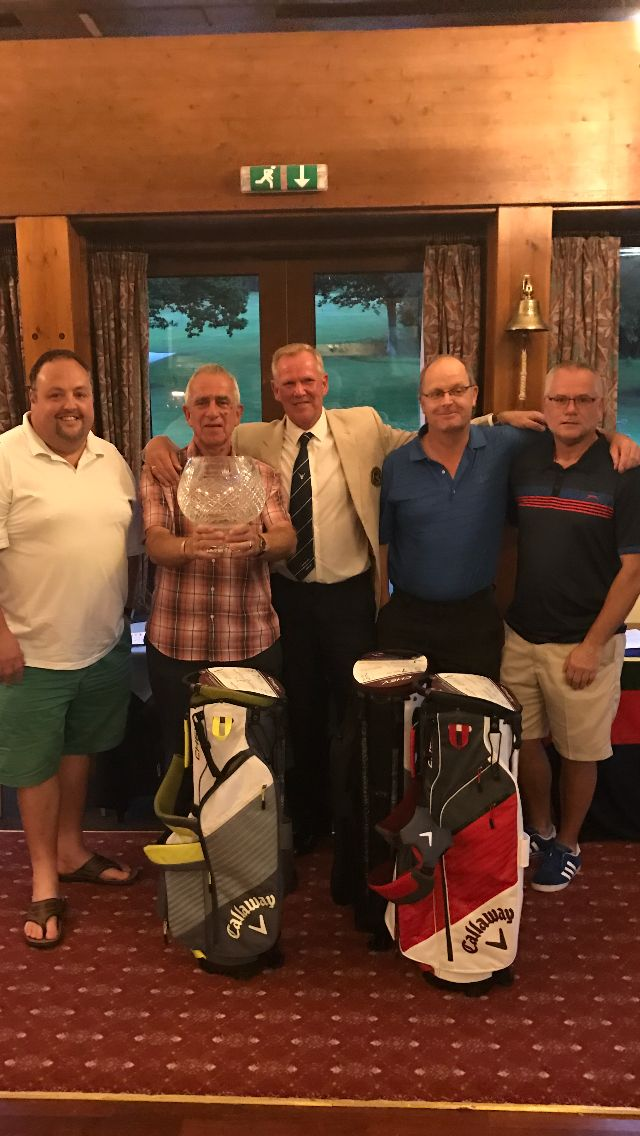 CHAMPIONS: Captain Neil Whisler with his charity day winners Justin Hooper, Doug Read, Colin Scobie and Richard Neal.