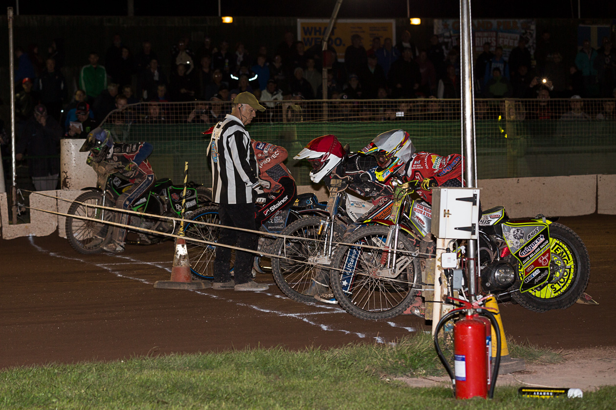 BEATING: Somerset Rebels were no match for Swindon Robins on Thursday night. Pic: Colin Burnett