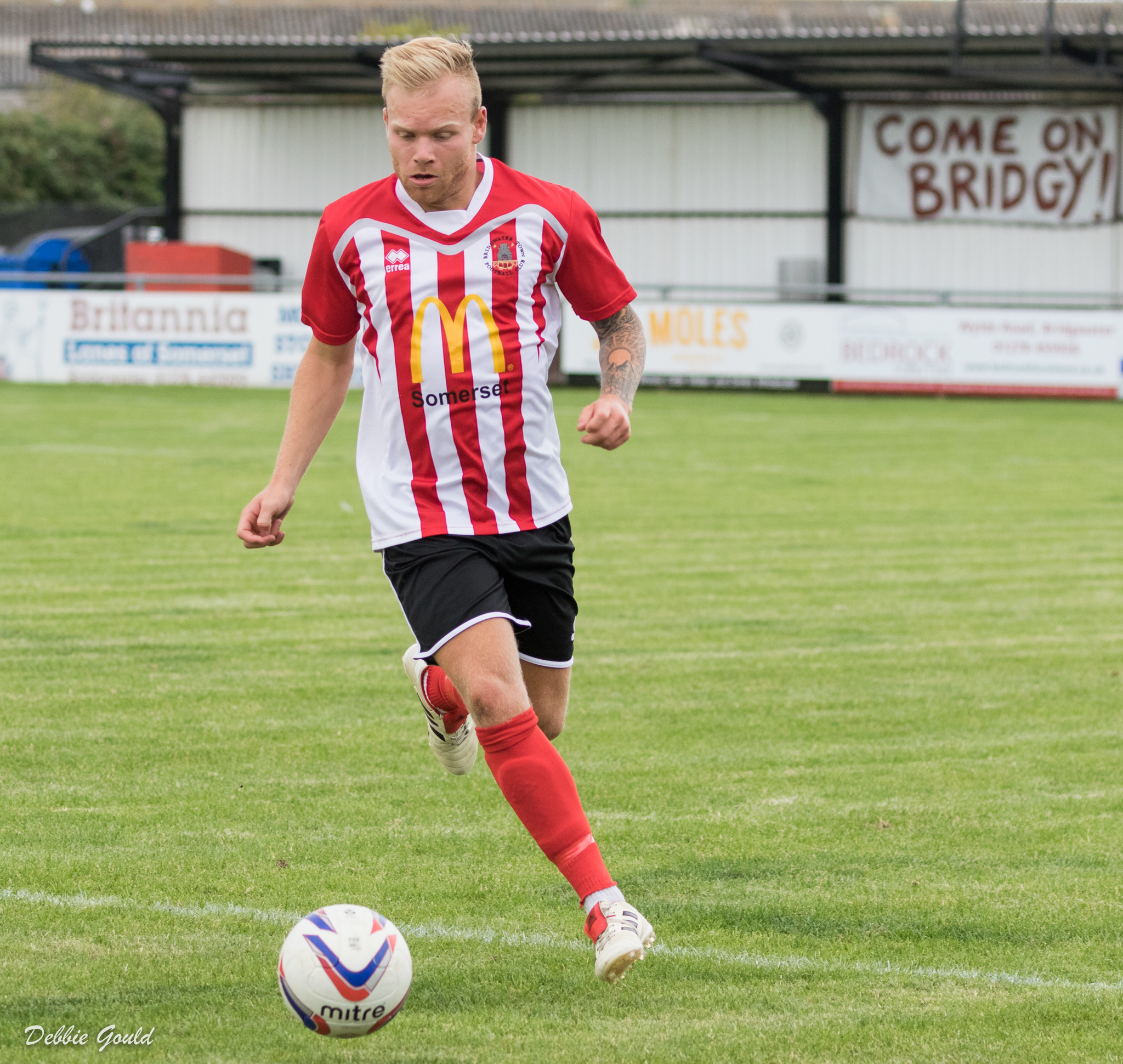 FINE DISPLAY: Jake Llewellyn was in great form as Bridgwater Town beat Wellington. Pic: Debbie Gould