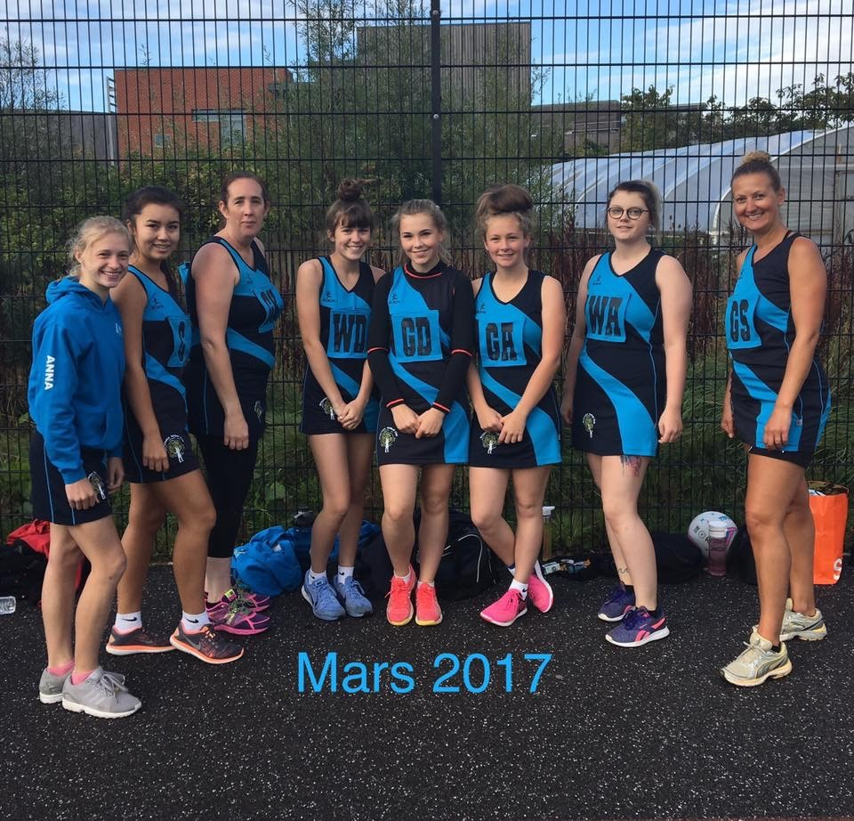 WINNERS: Bridgwater Mars beat Brendon in their opening match of 2017/18. Pic: Bridgwater Netball Club