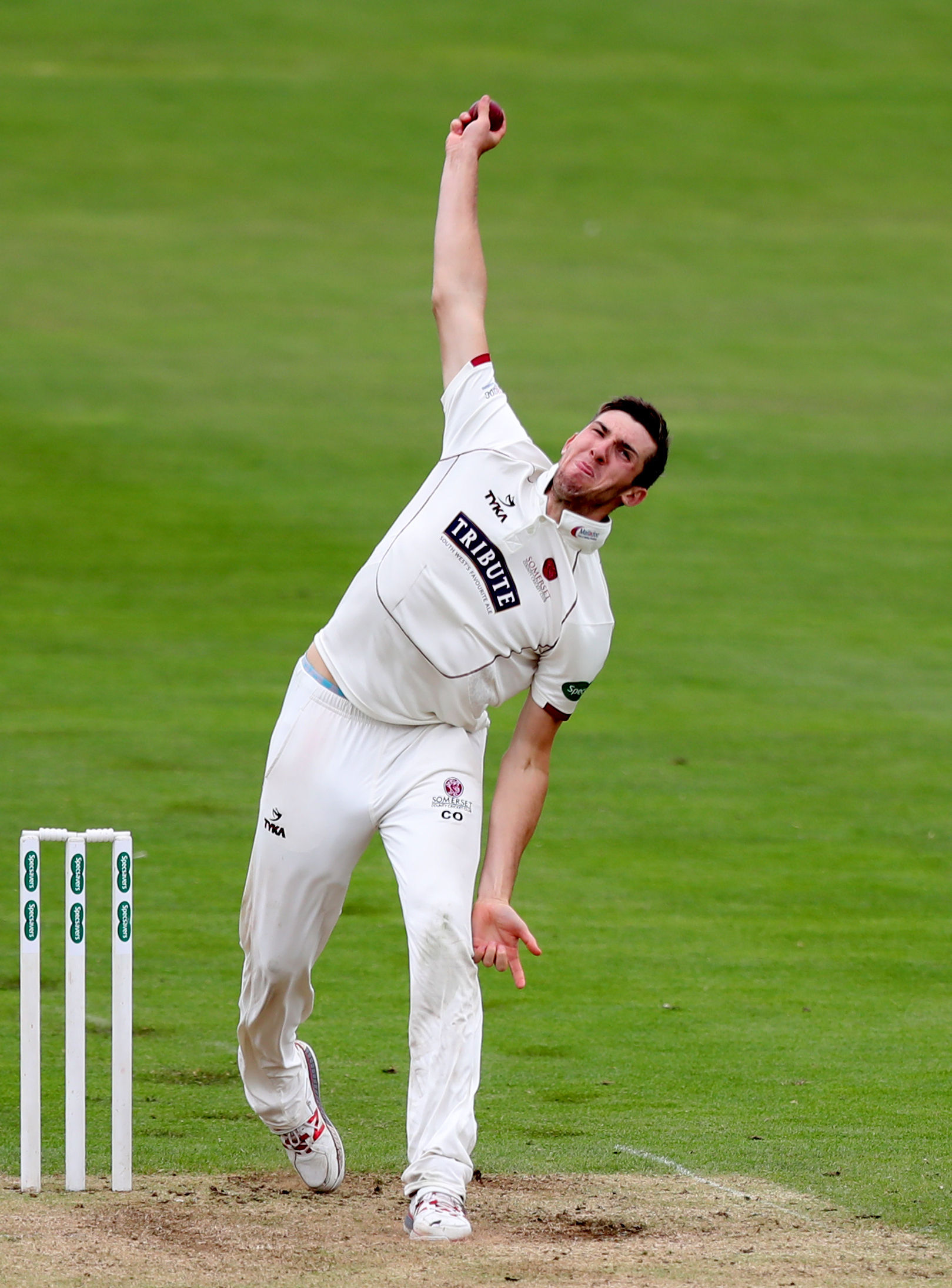 TWO WICKETS: Craig Overton snared two victims for England against Cricket Australia XI. Pic: Somerset CCC