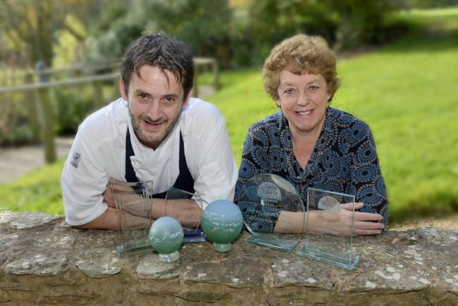 NOMINATION: Head chef Olivier Certain and co-owner Sue Milverton from Clavelshay Barn Restaurant