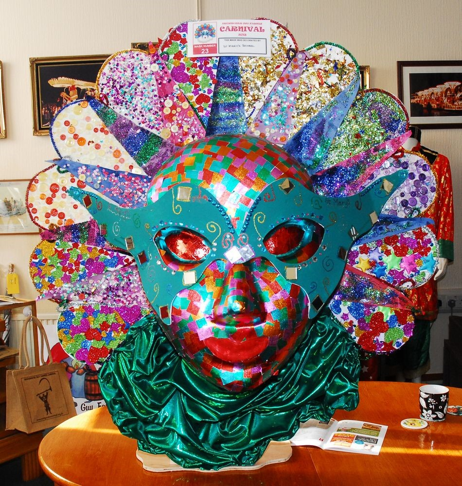 ACROSS BRIDGWATER: Can you find all of the carnival masks?