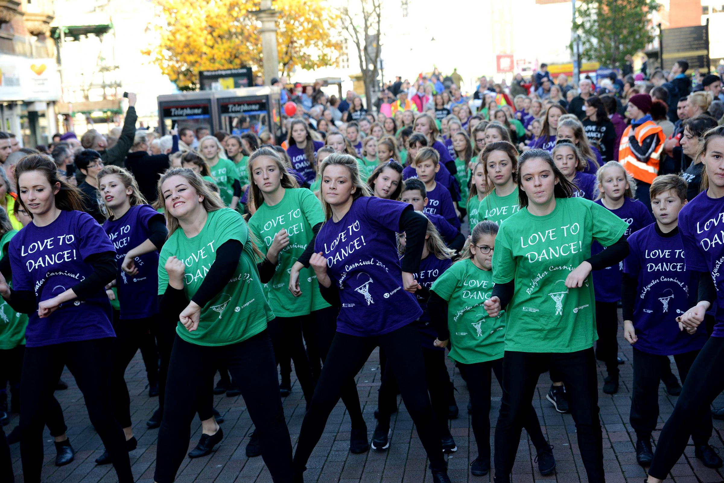 IN SYNCH: Dancers at last year's Bridgwater Carnival
