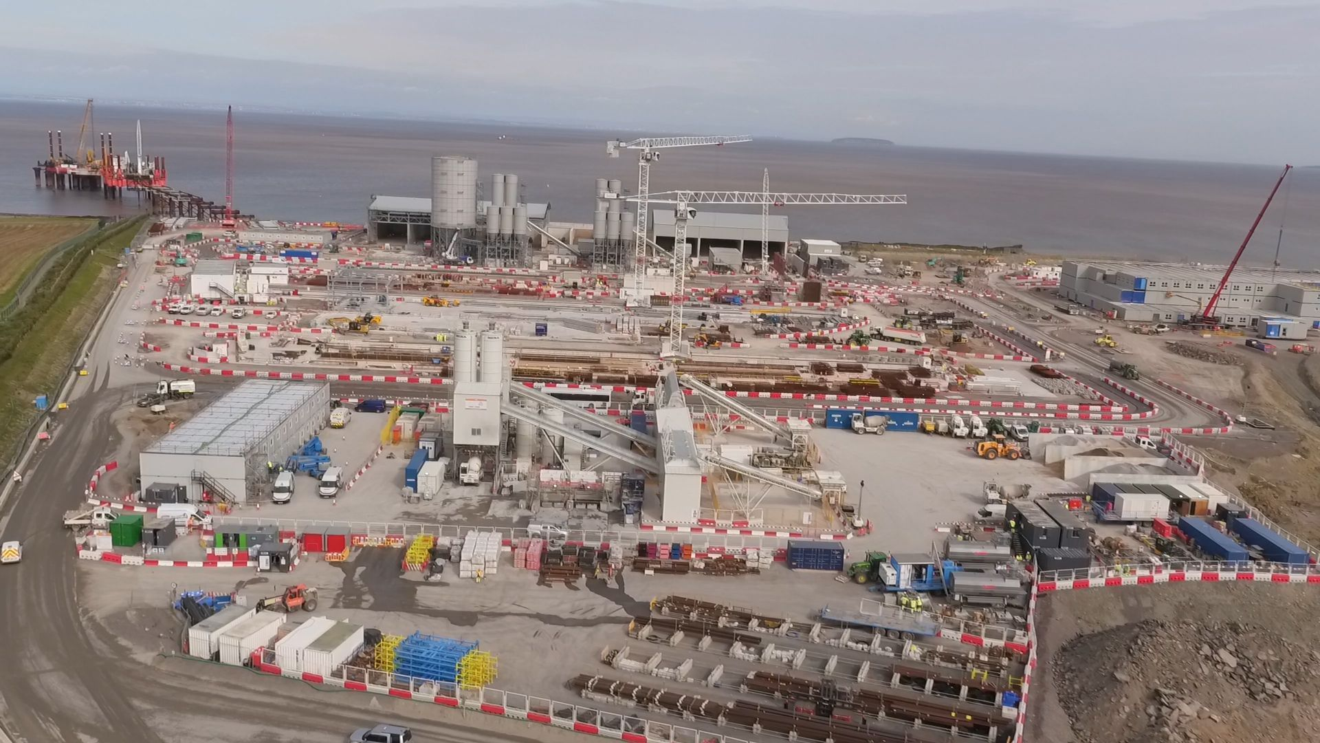UNDER CONSTRUCTION: There are currently more than 2,000 workers on the Hinkley C site