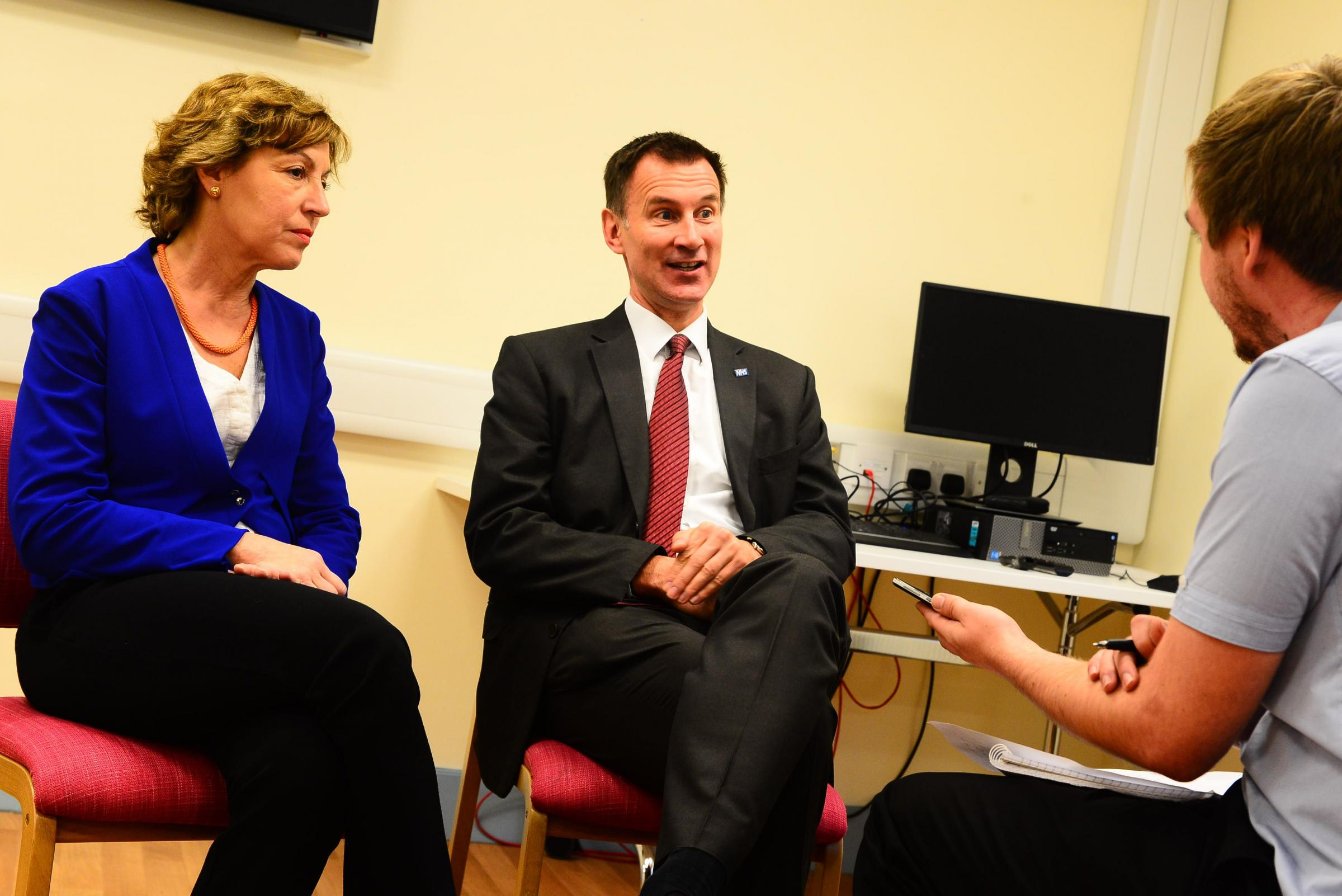 VISIT: Health secretary Jeremy Hunt joined Taunton Deane MP Rebecca Pow during a visit to Musgrove Park Hospital today