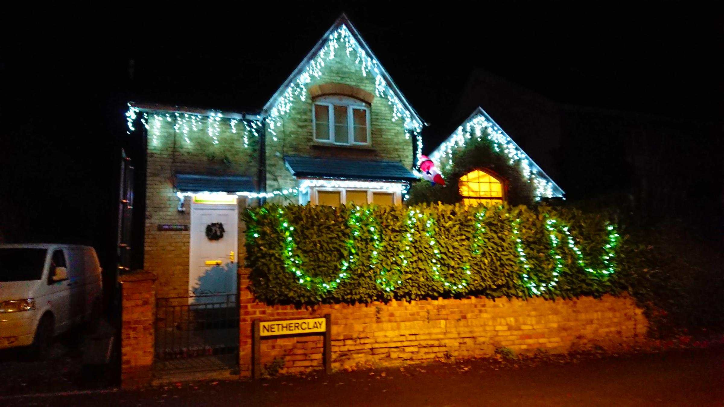 EARLY DOORS: This house in Bishops Hull, Taunton, is ready for Christmas