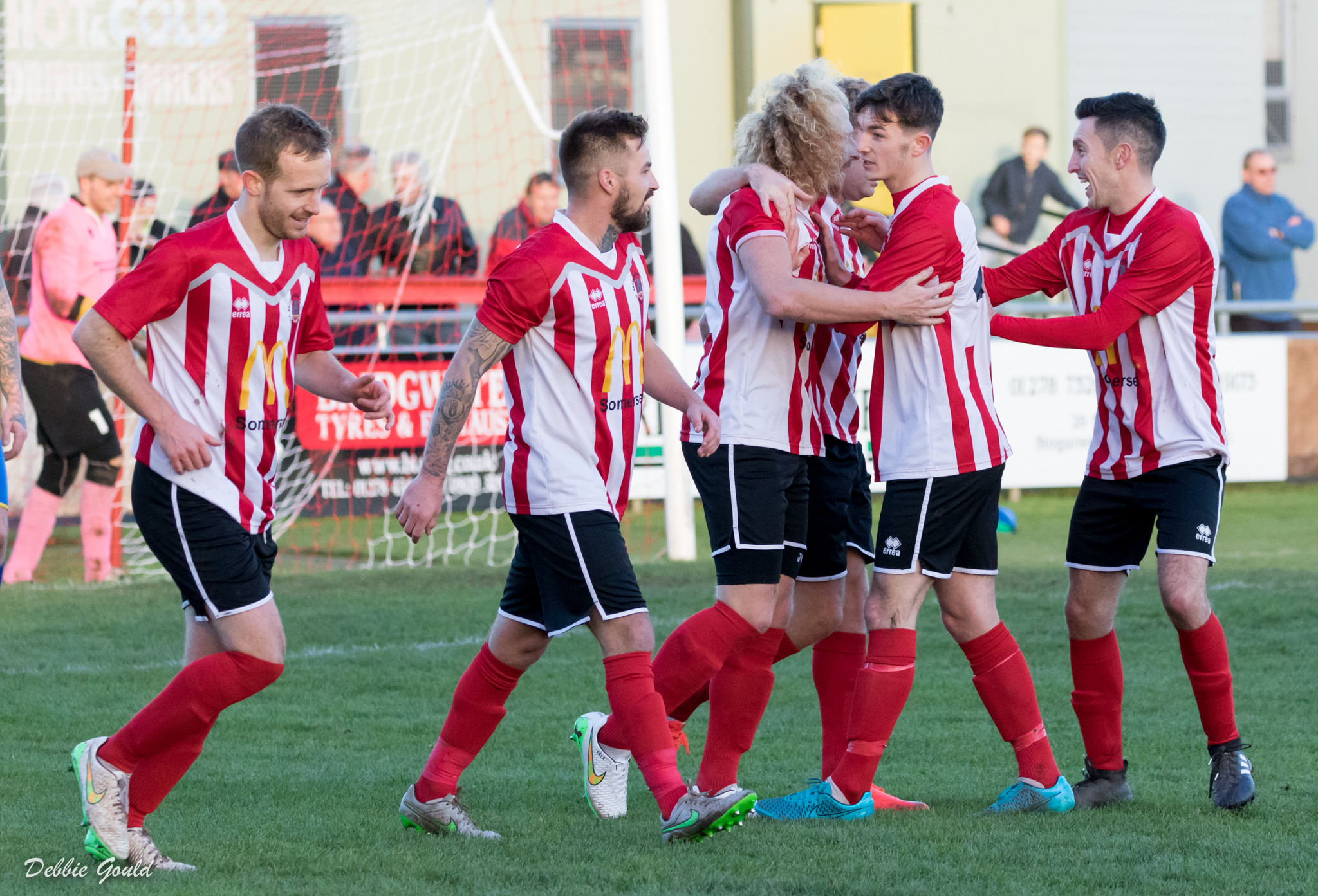 DELIGHT: Will there be more FA Vase joy for Bridgwater Town on Saturday? Pic: Debbie Gould