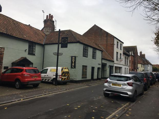 ROOM DAMAGED: The Old Vicarage Hotel in Bridgwater