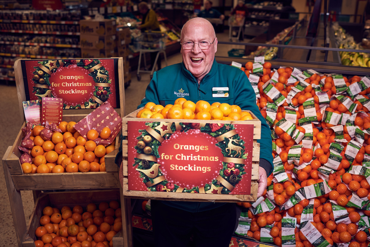 MORRISONS supermarkets in Bridgwater and Taunton are hoping to revive the almost forgotten tradition of putting an orange into a Christmas stocking