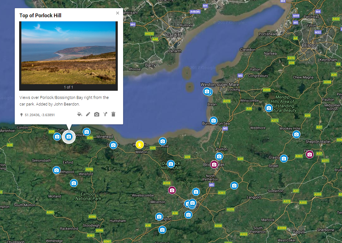 RESOURCE: The map details photogenic spots in Somerset