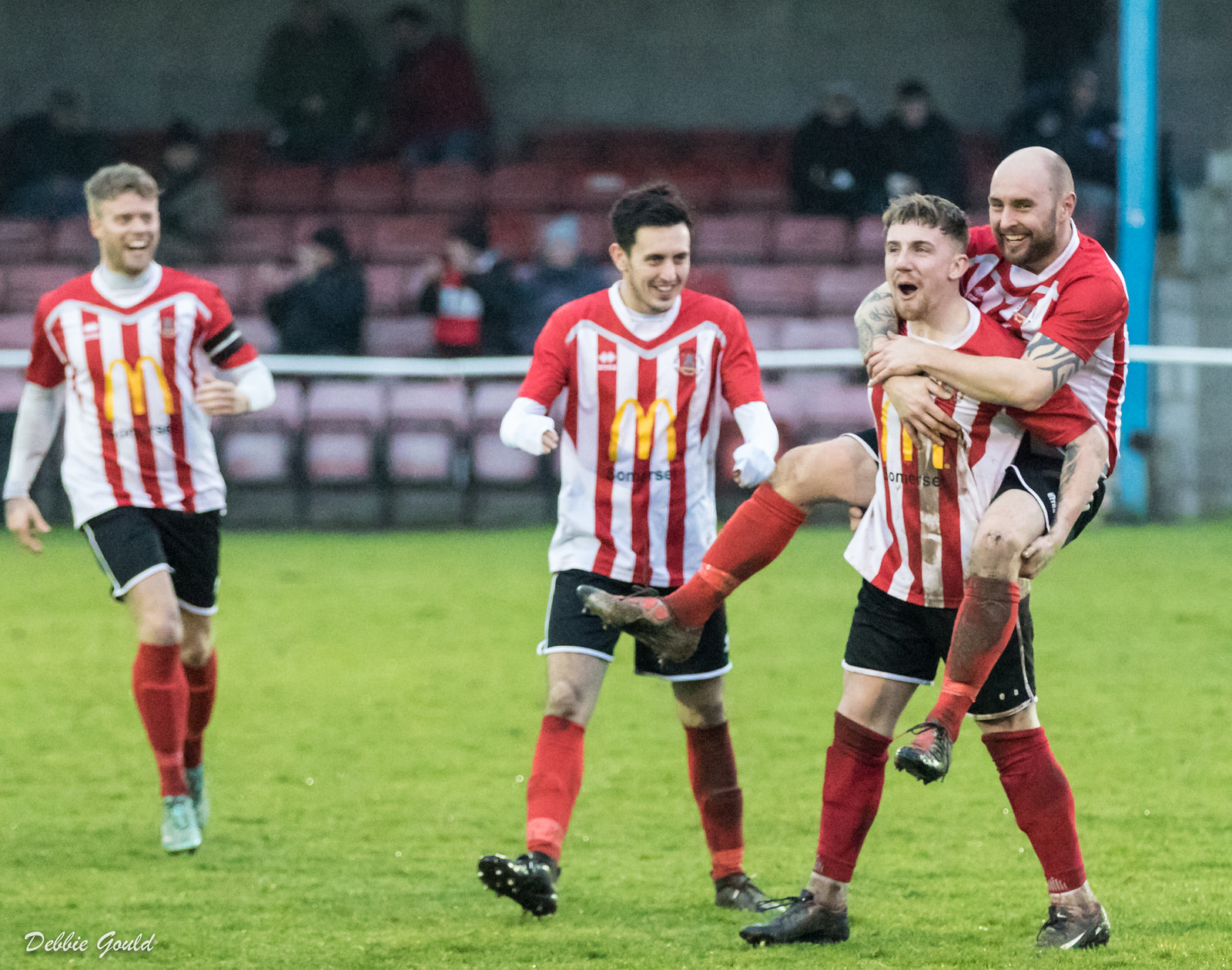 RAMPANT: Bridgwater Town thumped Wells City 5-0 at Fairfax Park.