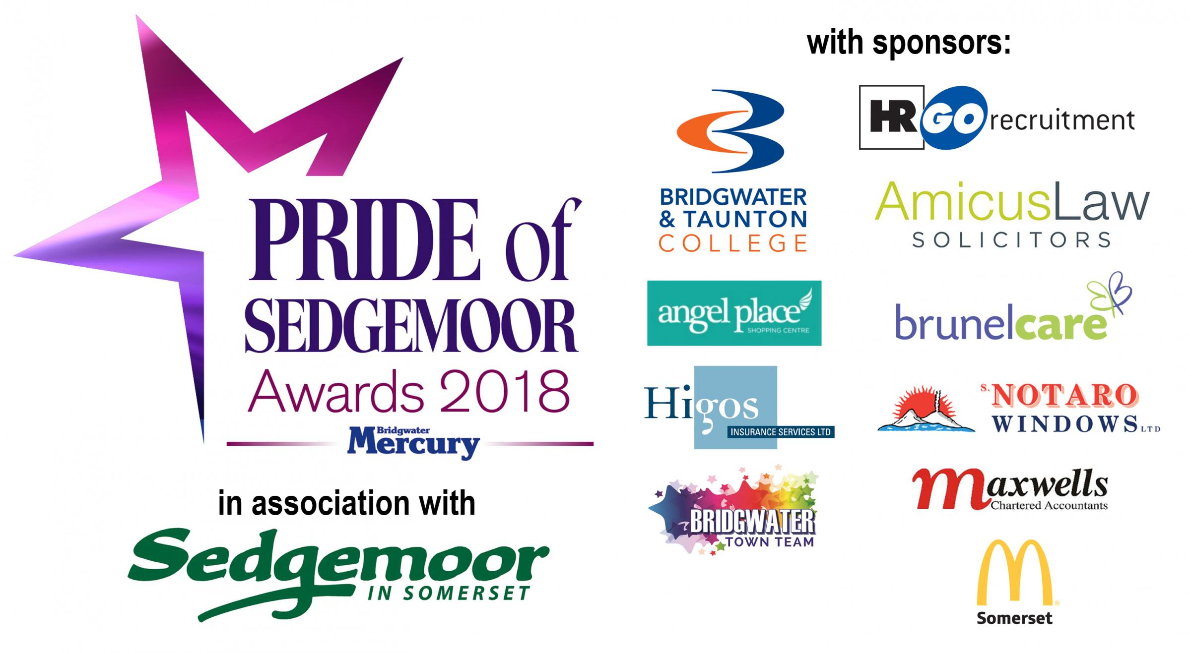 NOMINATIONS OPEN: For the Pride of Sedgemoor Awards