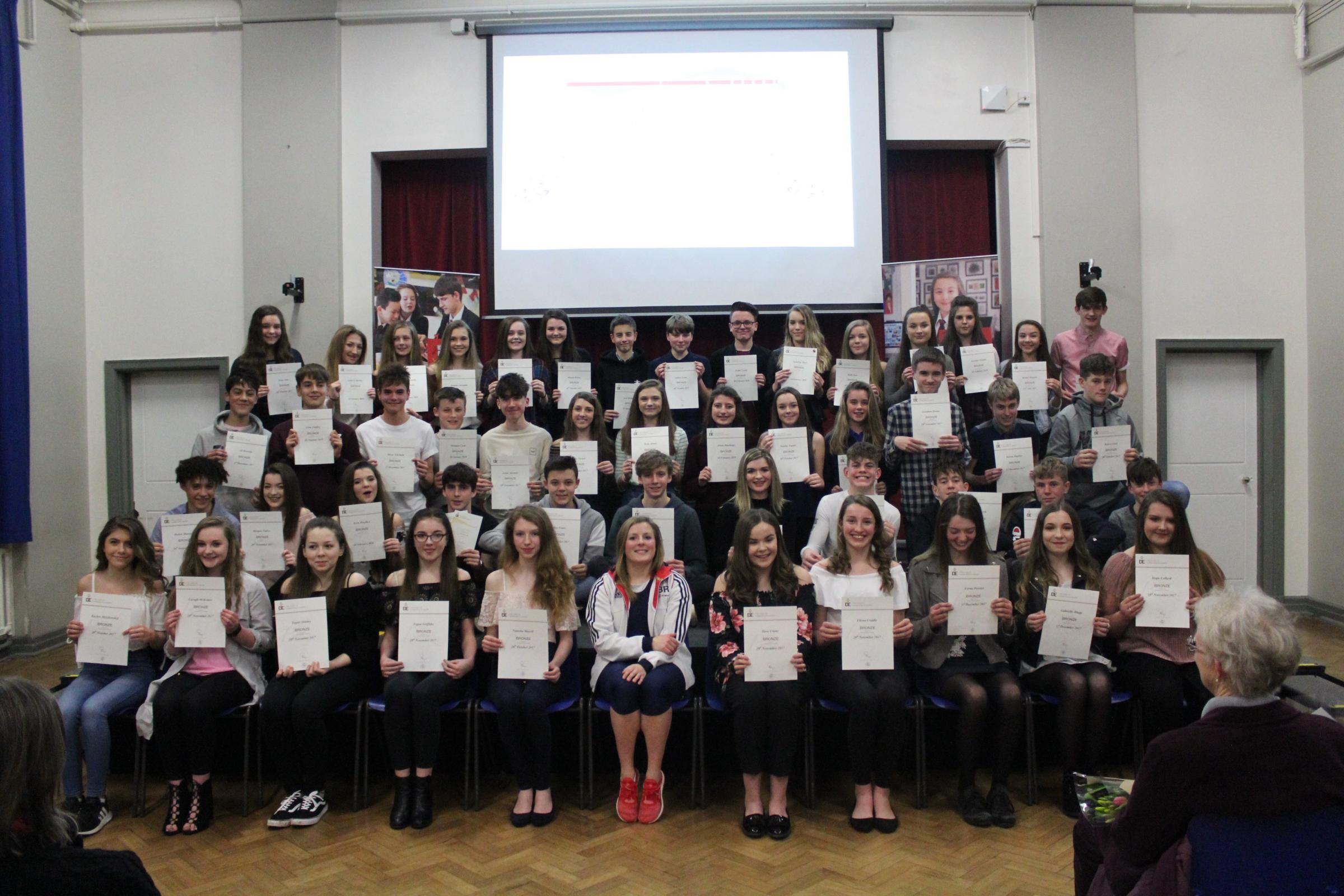 ACHIEVERS: 50 Haygrove students collected their bronze Duke of Edinburgh Awards