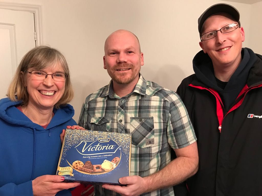 TALK OF THE TOWN: Pictured is the 2,000th member, Wilstock software architect Zephie Greyvenstein (centre) with volunteer webpage moderators Helen Phillips and Shane Stevens