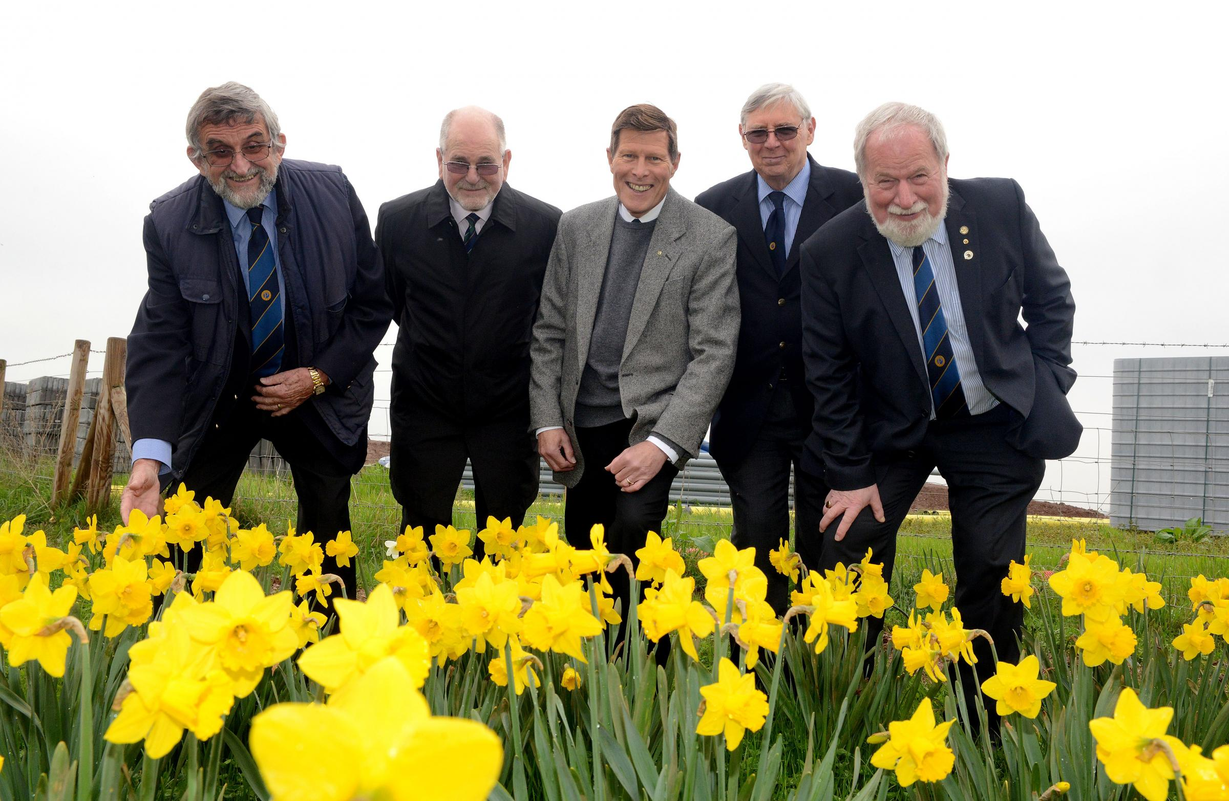 DELIGHTED: East Quantock Probus Club's Martin Lane, John Bishop, David Barge, Graham Wood and John Swayne