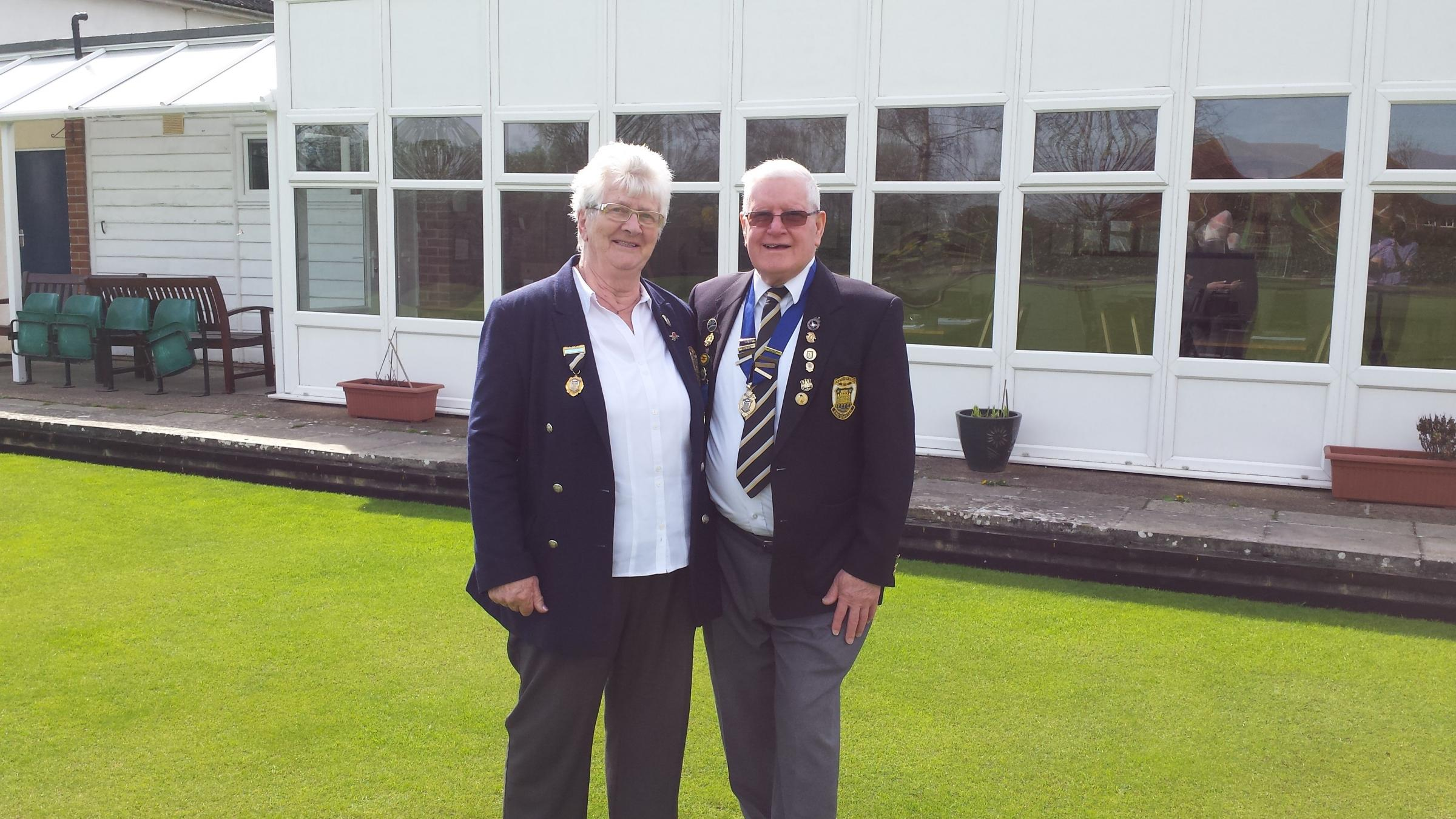 OPEN DAY: Anne Moore and Peter Botting from Eastover Bowls Club want to see more people playing