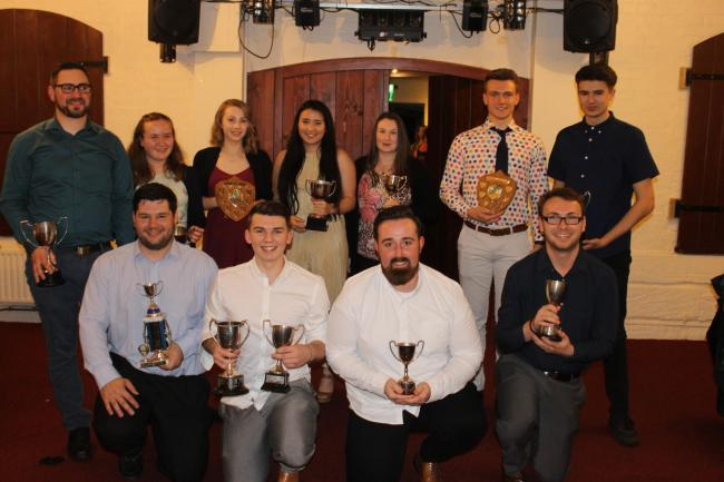 SILVERWARE: This year's top talents at Bridgwater Hockey Club.