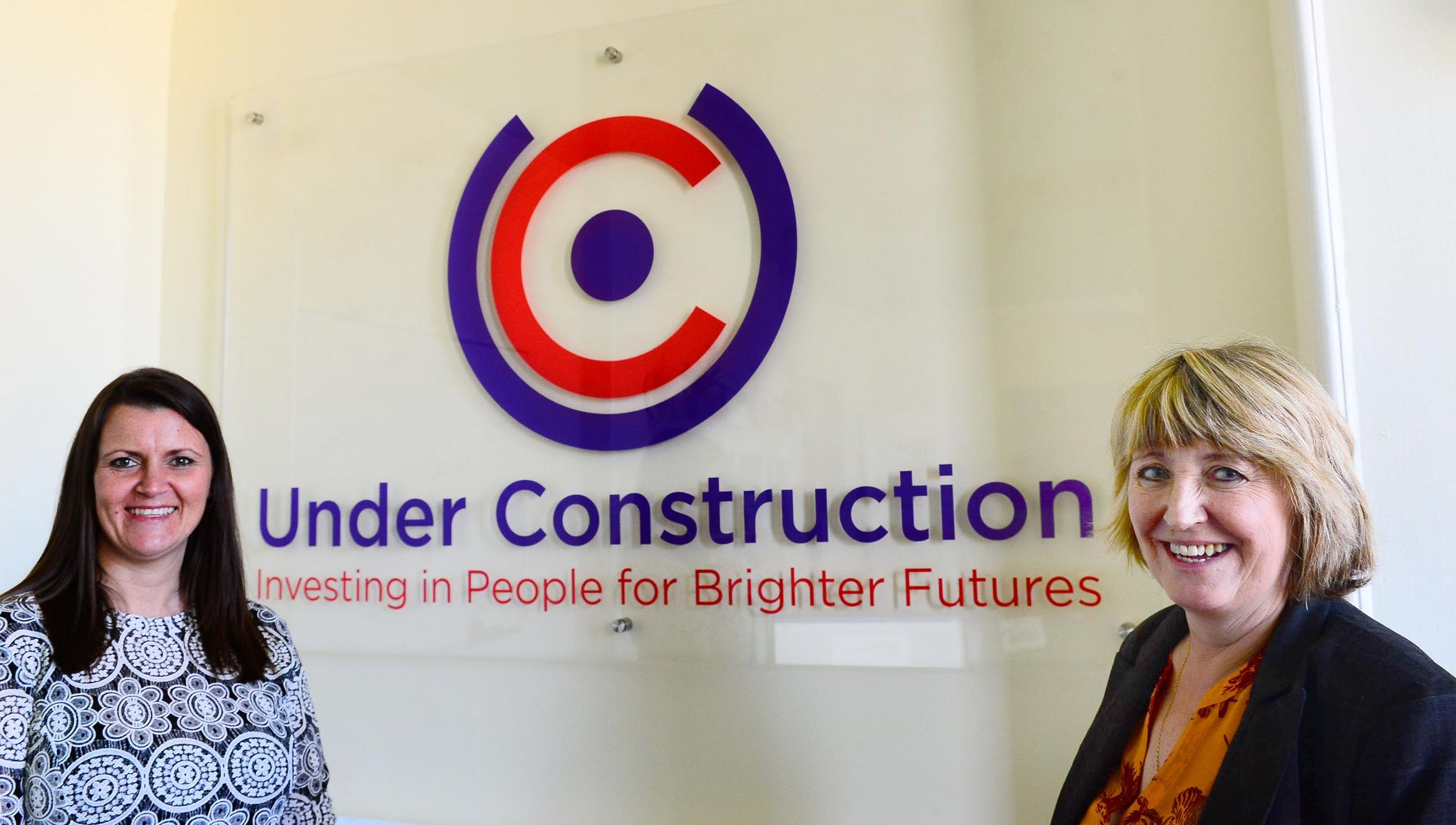BIRTHDAY: Tracey Armstrong-Stacey and Caroline Derrick celebrate Under Construction's first year