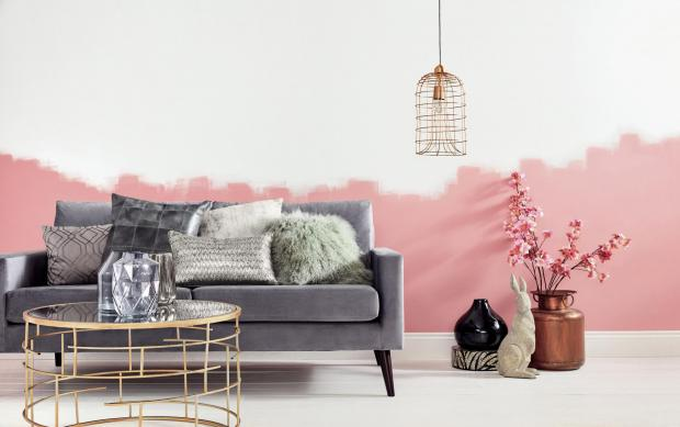 Bridgwater Mercury: NEW: Items from a range at Homesense, including grey velvet sofa. £499.99; mirror topped coffee table, £99.99, and gold cage light pendant, £39.99. Picture: Homesense/PA