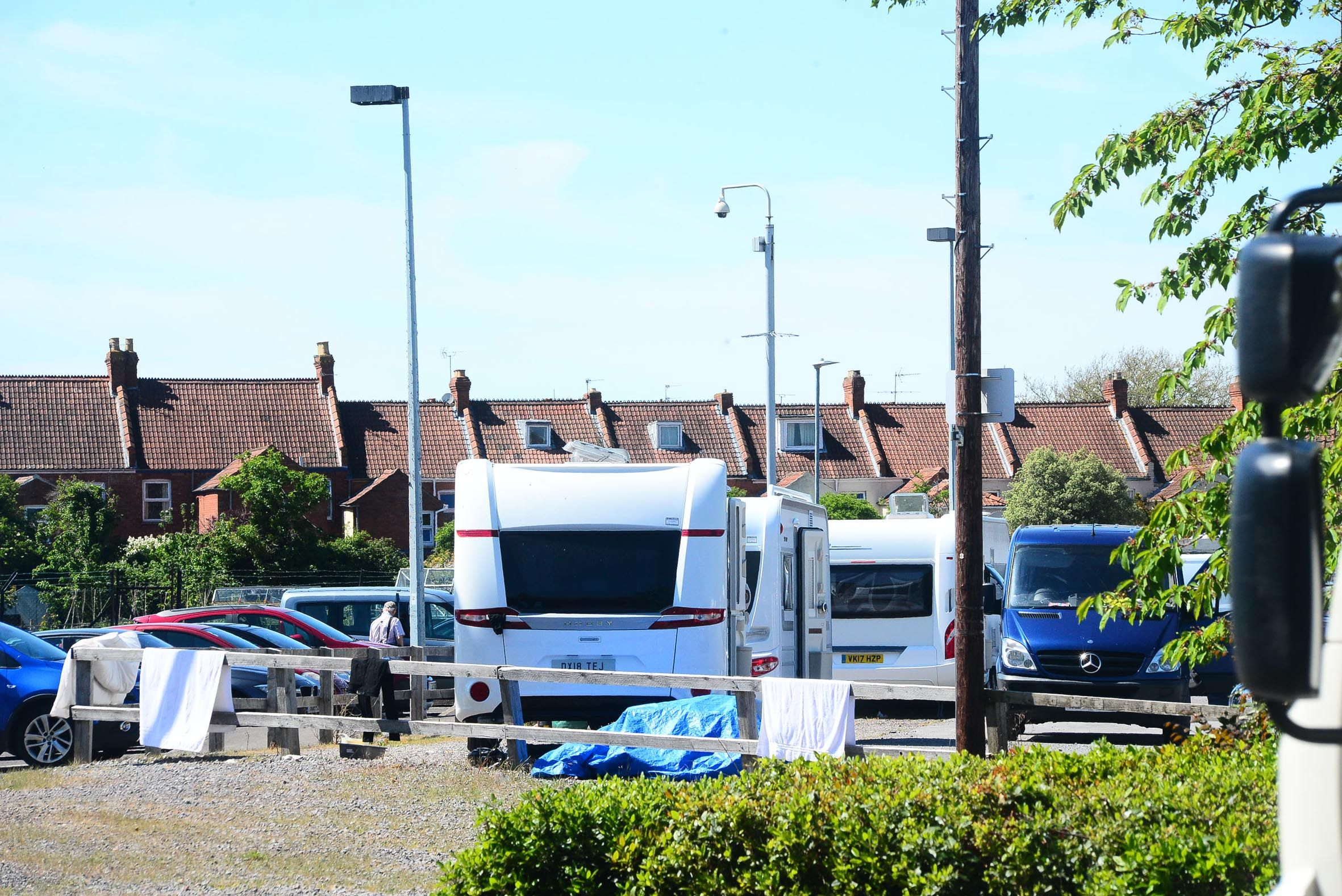 TRAVELLERS: Twelve caravans appeared on the site over the weekend