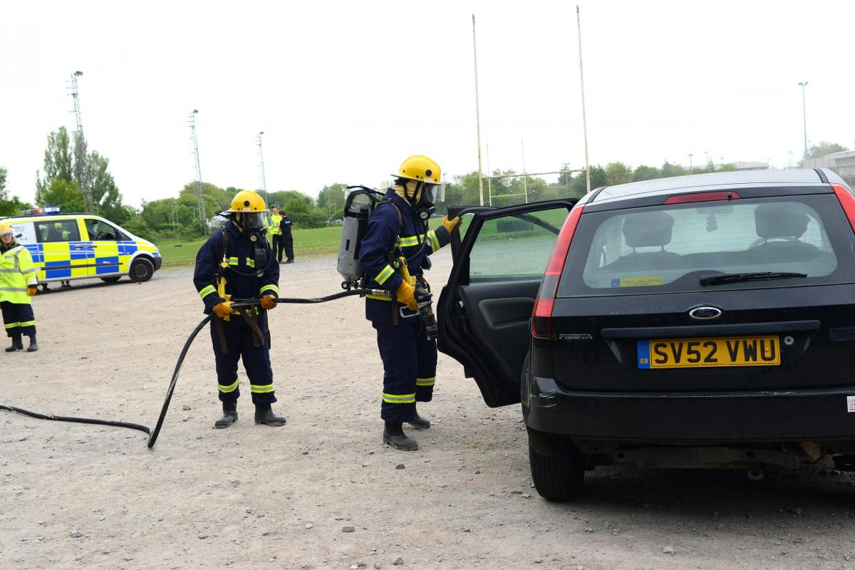 Bridgwater and Taunton 999 Academy students mock car crash ...