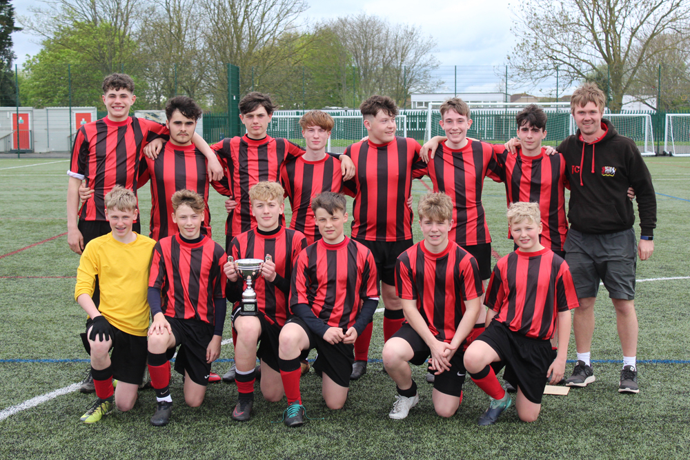 CHAMPIONS: The triumphant Haygrove School Under-15 team.