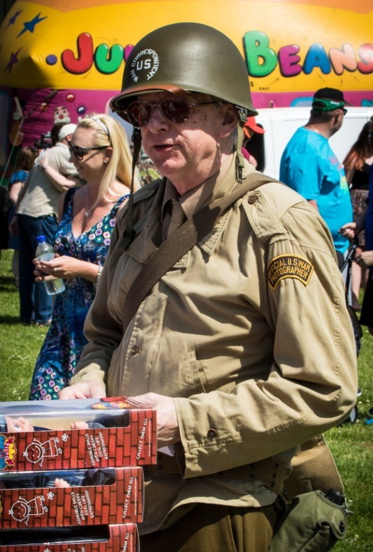 SOLDIERING ON: In uniform at Westonzoyland May Day Fete (Pictures by J&L Photography)