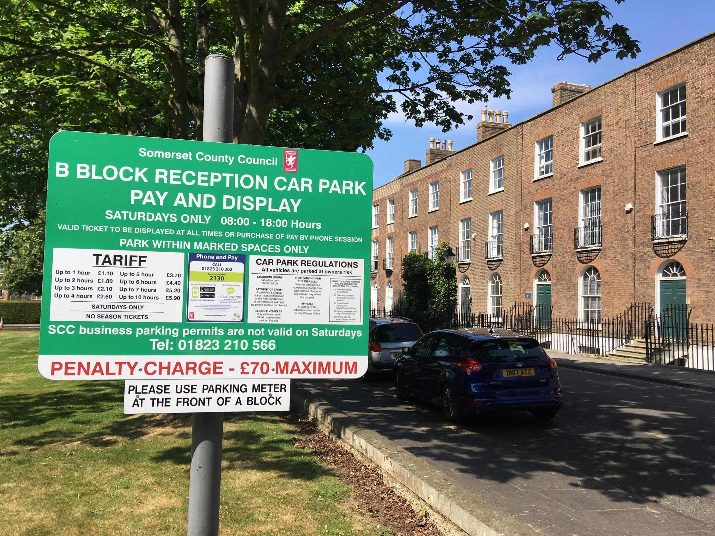 CASHLESS: One of the parking tariff boards in Taunton