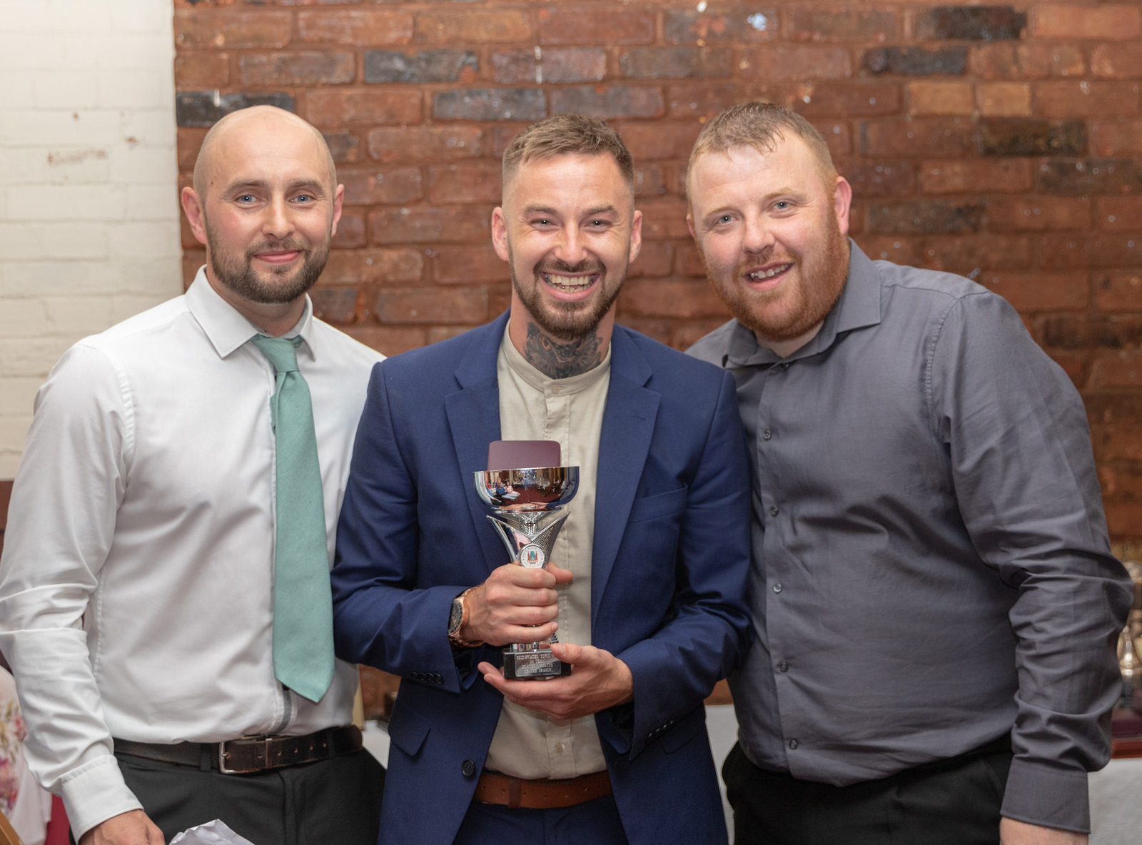 STAR MAN: Jack Taylor (pictured with managers Dave Pearse, left, and Karl Baggaley) was top scorer, Players' Player and Supporters' Player of the Season. All pics: Debbie Gould