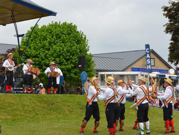 Bridgwater Mercury: Mendip Morris Men captured the attention of guests on the main lawn