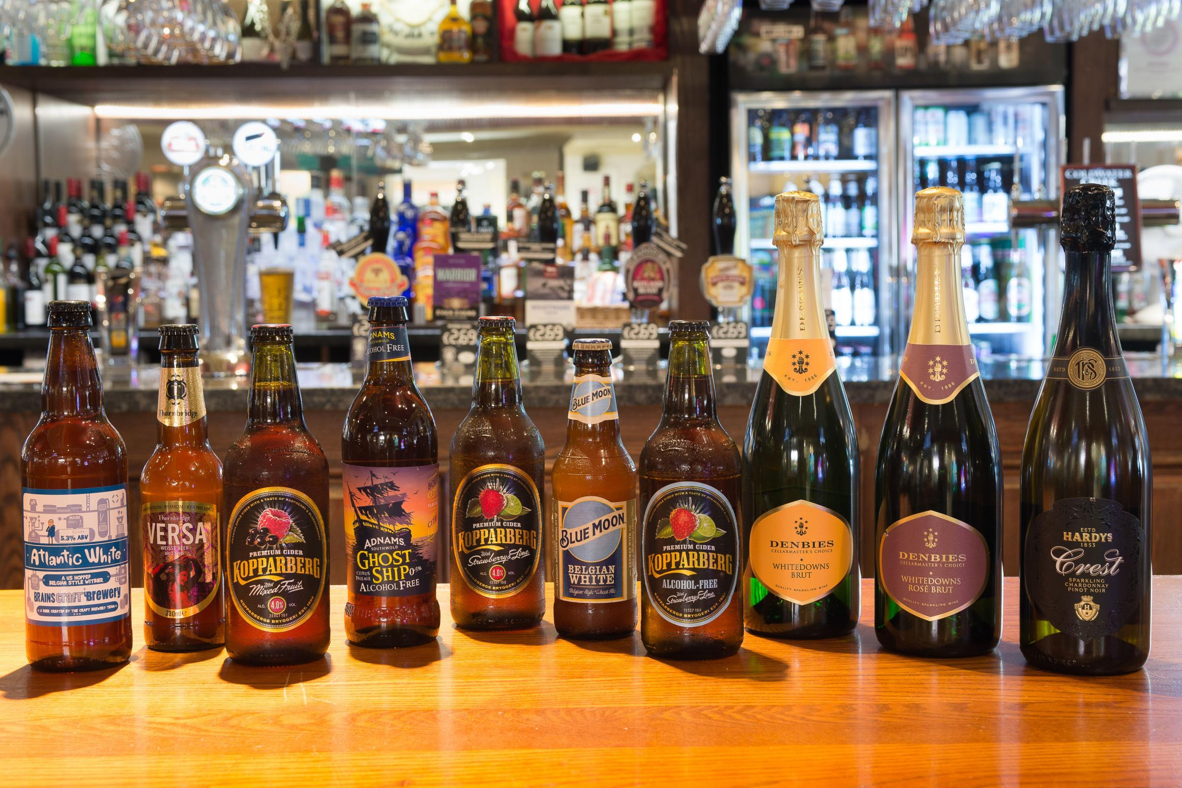 CHANGES: Some of the new products. PICTURE: Wetherspoon/PA Wire