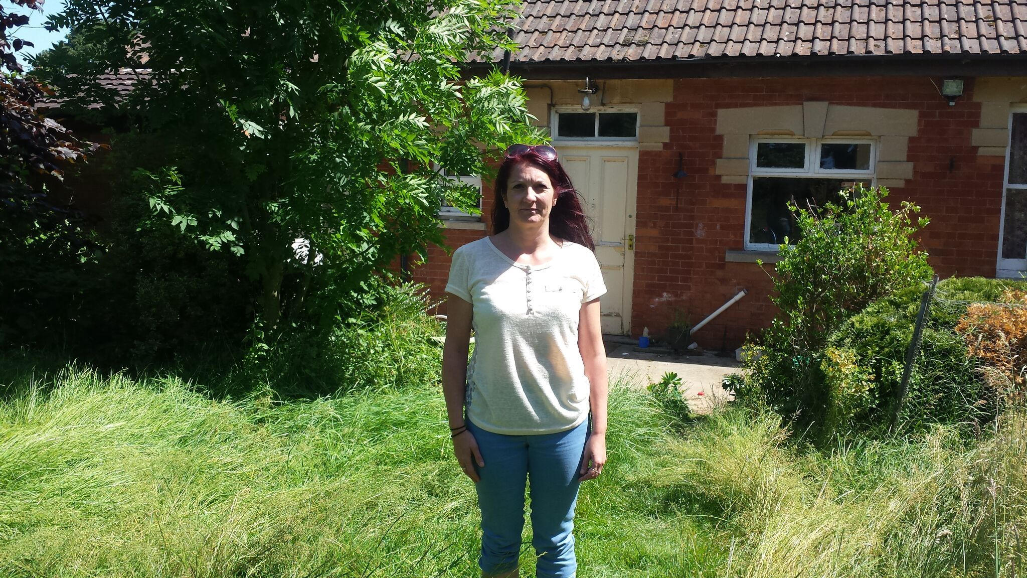 ANXIOUS WAIT: Anita Will outside Southlea where her family have lived for the past seven years