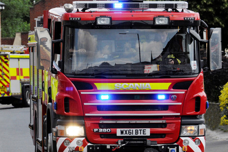 Fire in three-storey home