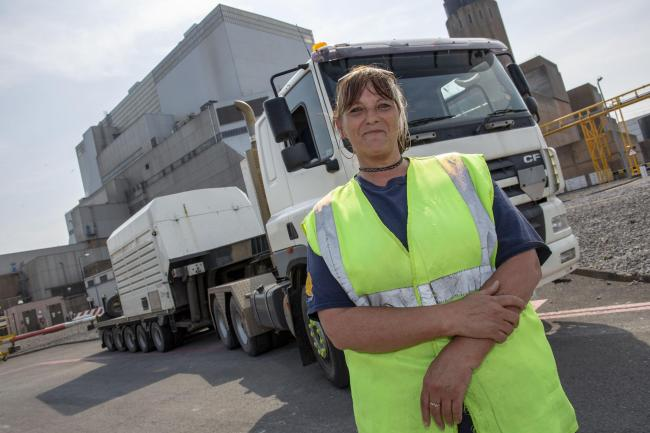 UNIQUE: Liz Dunn has just become the UK's first ever female nuclear fuel flask transporter driver