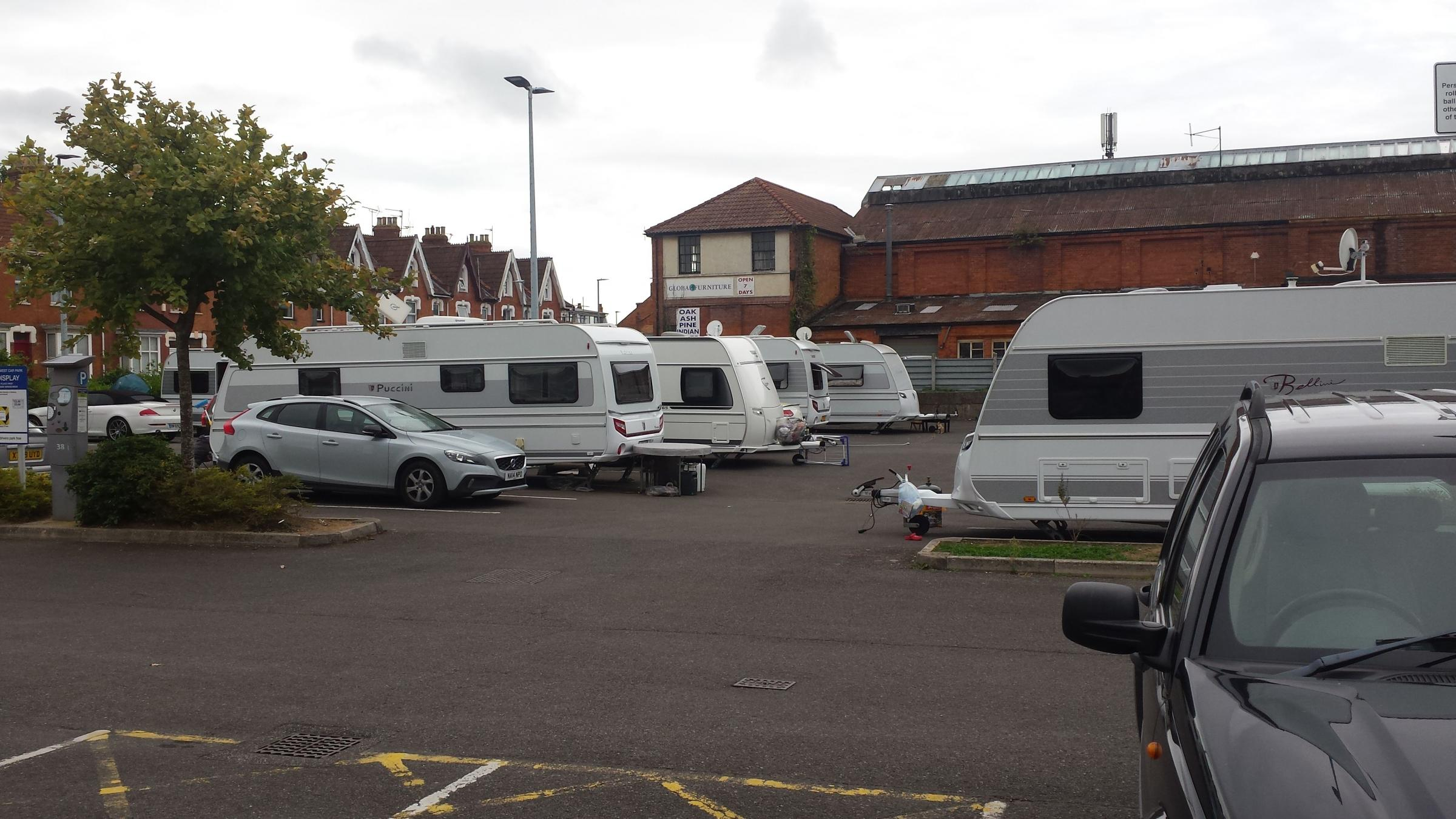 Travellers move on to Bridgwater's Mount Street car park
