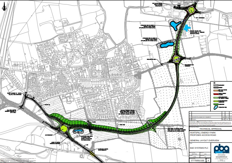 CONNECTION: The link road will run to the south/south east of Puriton from the A39 to the Huntspill Energy Park