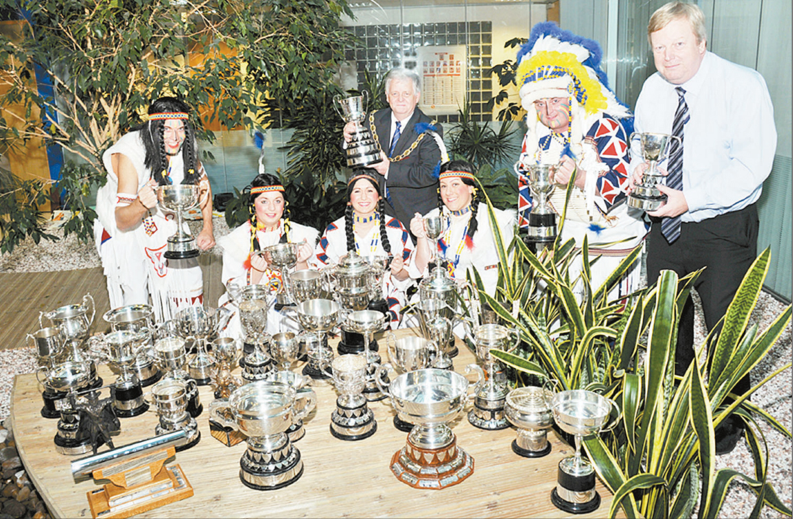 GATHERED: All of the Bridgwater Carnival trophies