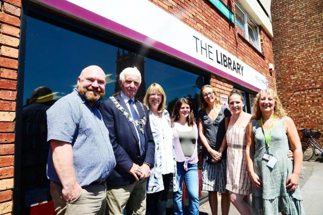 ENTHUSIASM: Councillors and committee members of North Petherton Library