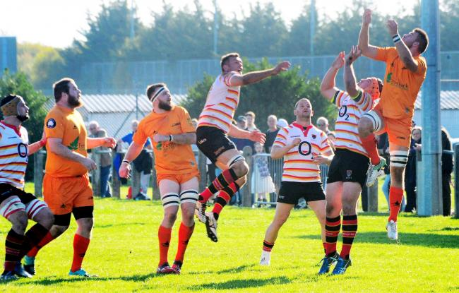 HIGH BALL: Bridgwater & Albion seek to improve on last week's result against Launceston. Pic: Steve Richardson