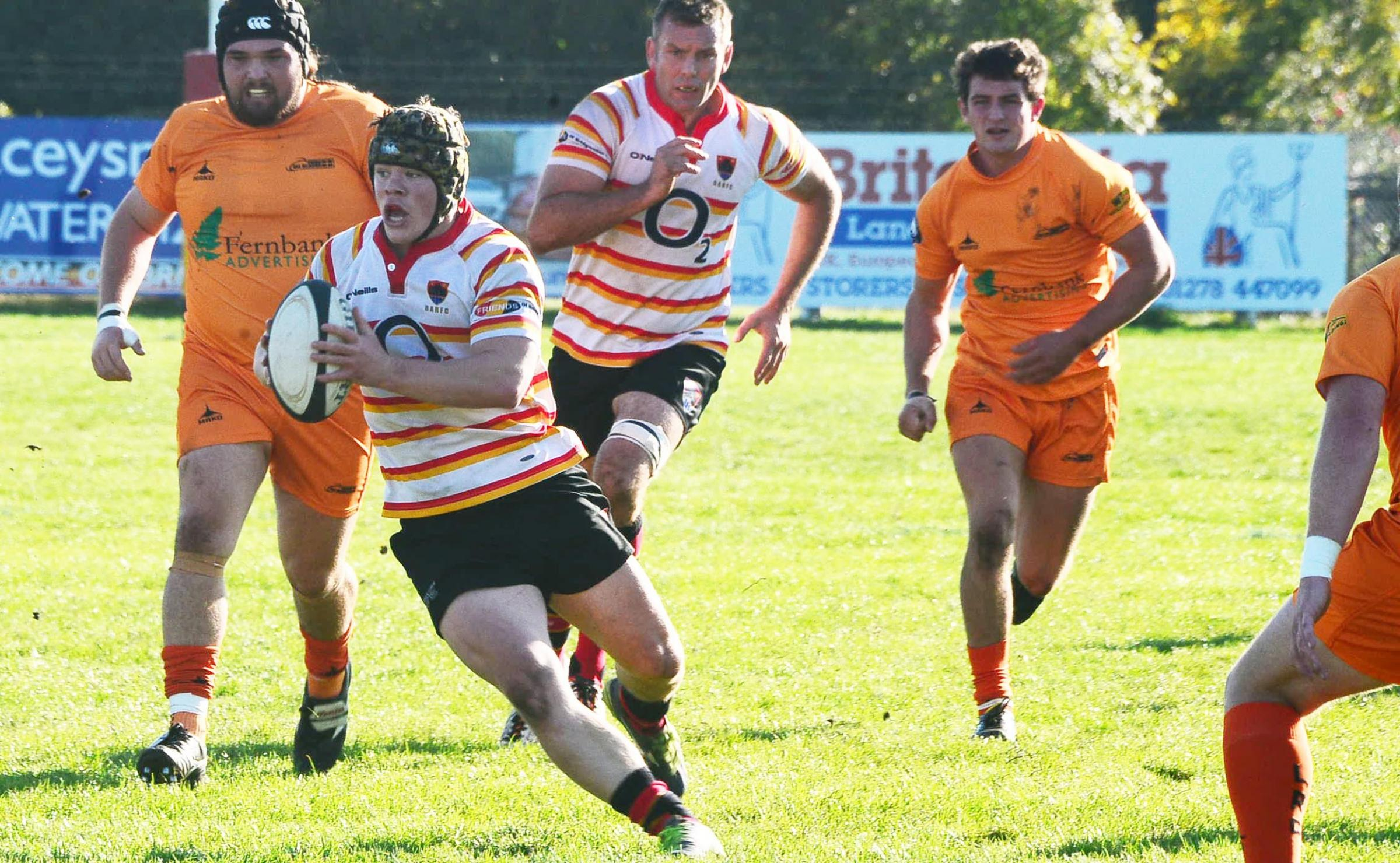 BATTLING DISPLAY: Bridgwater & Albion captain Ollie Dunn, who claimed a try at St Ives. Pic: Steve Richardson.