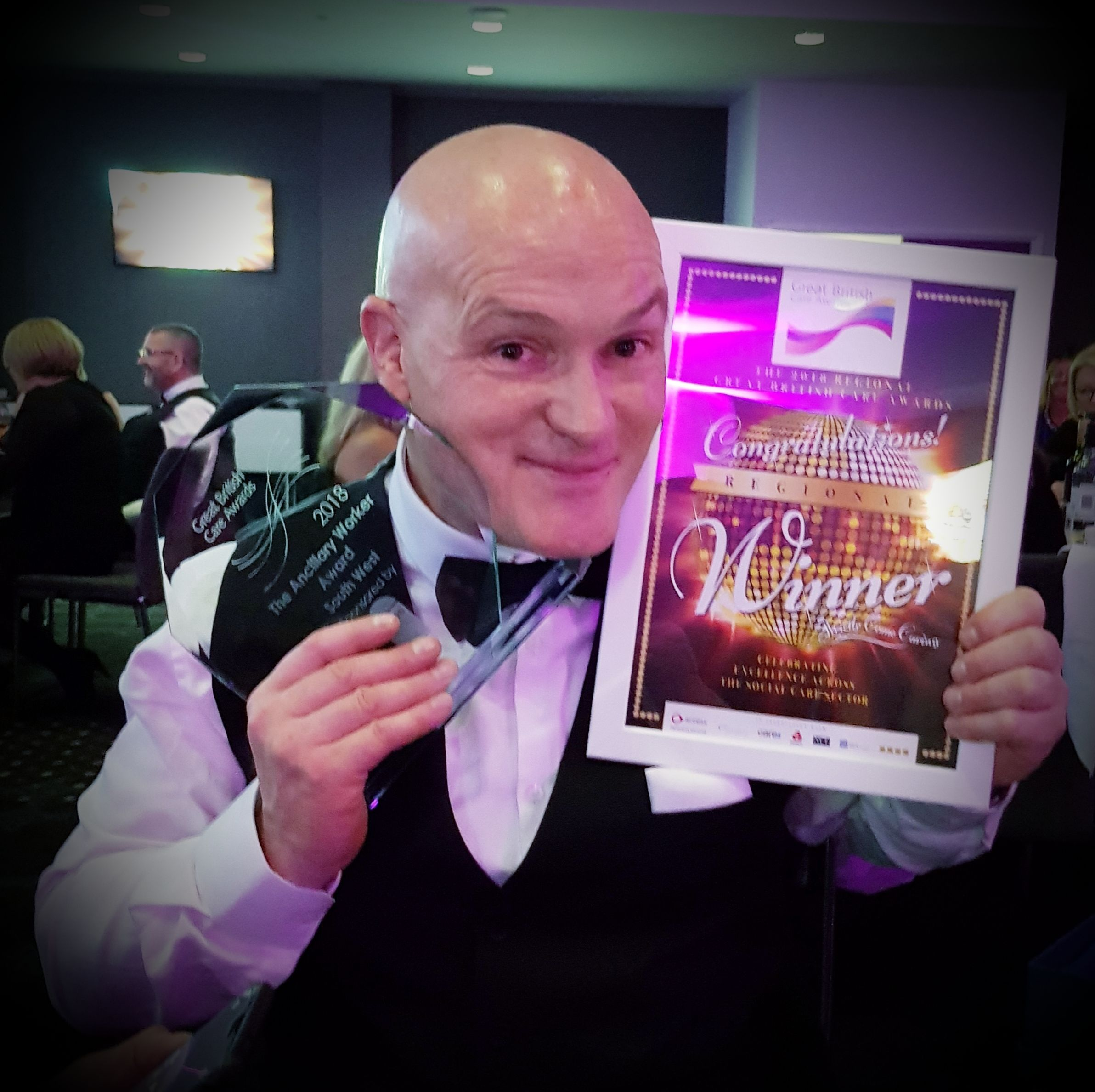 CARER: Andrew Morgan is through to the national finals of the Great British Care Awards