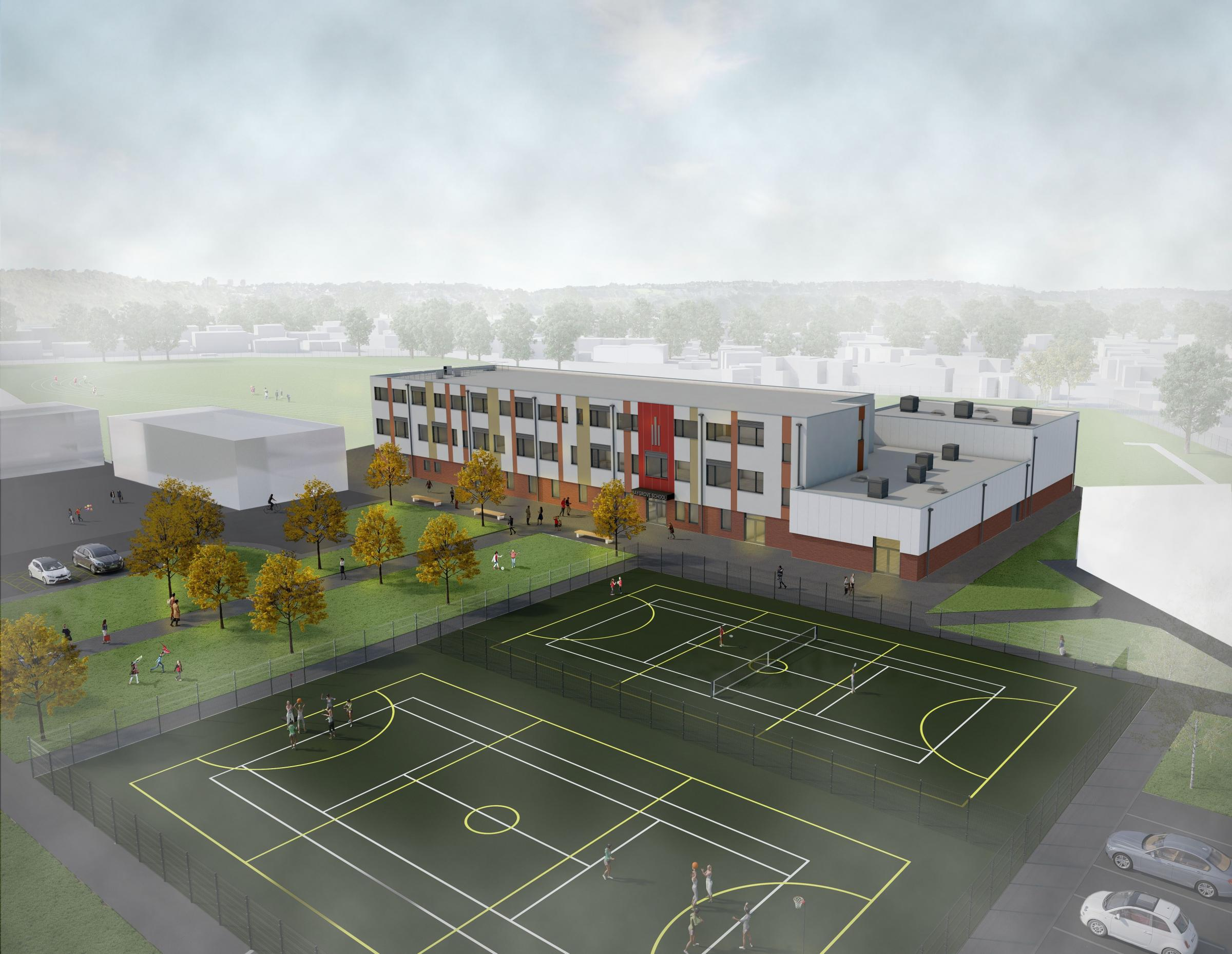 DEVELOPMENT: An artist's impression of the new main school building