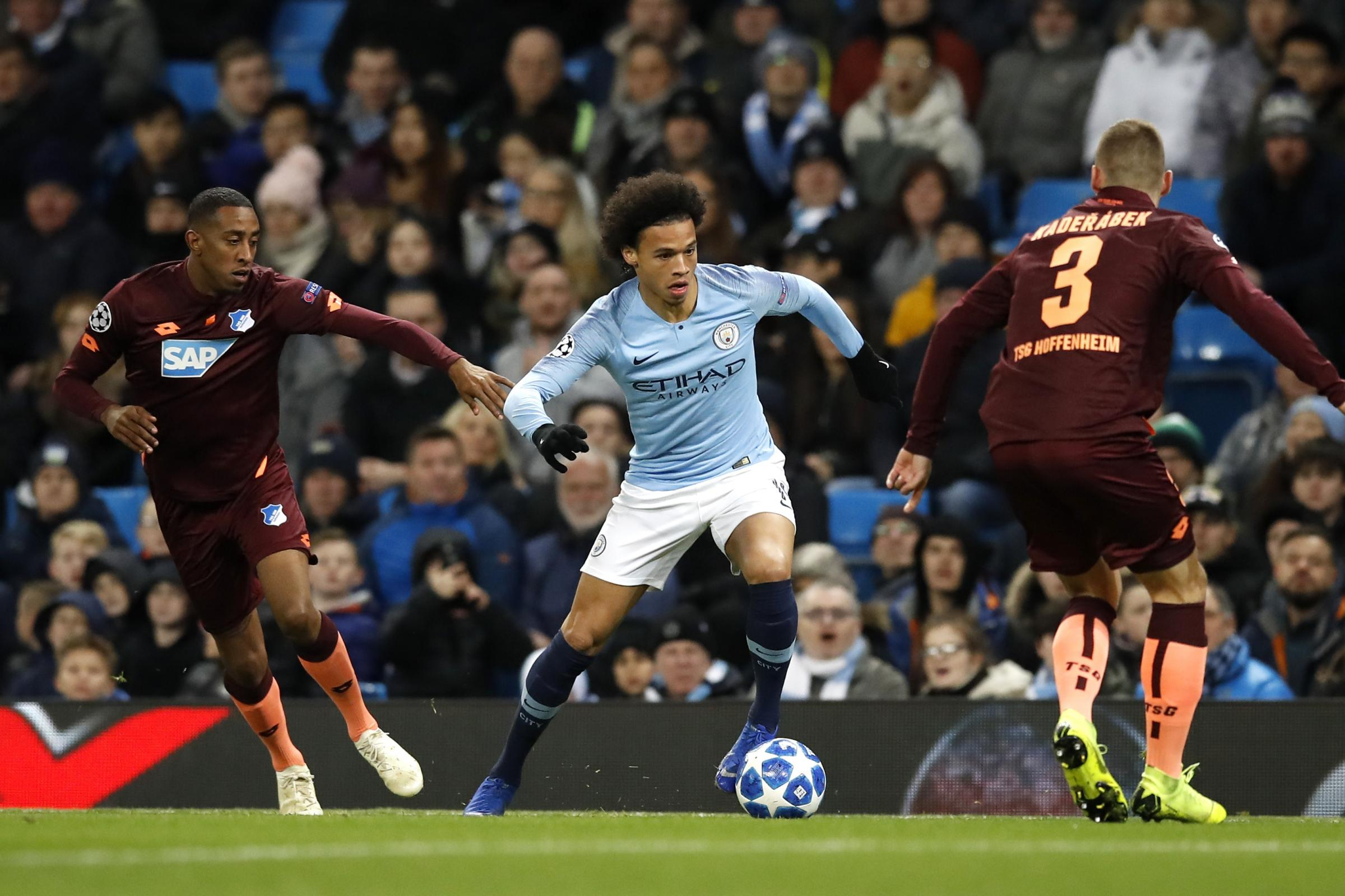 Leroy Sane was impressive as Manchester City overcame Hoffenheim