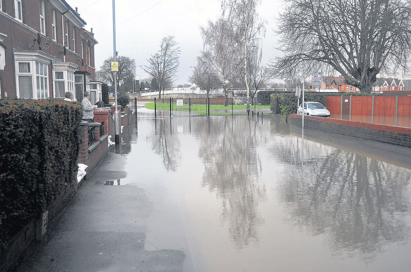 THE DAYS THE RAIN CAME DOWN: Flooding in St Saviours Avenue, Bridgwater