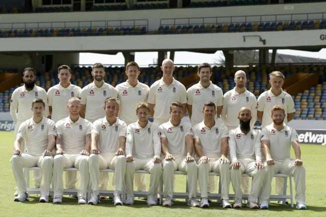 SQUAD: England's Test squad line up ahead of the West Indies tour. Pic: PA